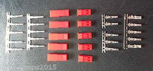 5 Pairs - 2 PIN JST RCY Plug Socket Connectors - Soldered / Crimp