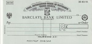 BARCLAYS BANK CHEQUE