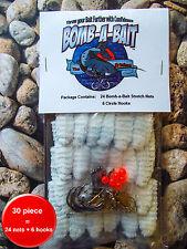 Catfish, 30 pc Bait Holder ~ BOMB-A-BAIT™ (Catch More Fish!)