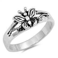 925 Face Height 7 mm Selectable Butterfly Toe Ring Genuine Sterling Silver