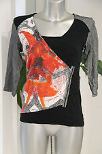 thin sweater black and multicolor AVENTURES DES TOILES size 38 mint
