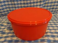 """TUPPERWARE ~ 12"""" GIANT CANISTER 42 CUP (10 L) Great for cakes & pies! ORAN ~ NEW"""