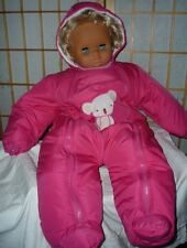 Baby Schneeanzug Gr.62/68 3-6 Monat Overall  Koala Bär Applikation u. Kapuze rot