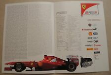 Ferrari f1 f138 billet Access Card Media 2013 PRESSKIT NO book livre