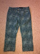 STITCH FIX Liverpool JEANS PANTS PRINTED Pants NWOT SIZE 10 SEAPORT BLUE