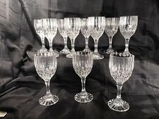 Fluted Lead Crystal Goblet Wine/Water Stemware. Excellent Preowned Condition(11)