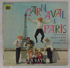 Tour Eiffell 45 tours Roger Vaysse Carnaval à Paris