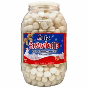 Utz snowballs white cheddar cheeseballs 23oz