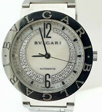 Men Wristwatch~Factory Mop Diamond Dial~Italy Bvlgari Bulgari Bb 33 Ss Automatic