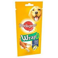 10 x Pedigree Wrap 50g Dog Treats Made With Chopped Beef Hide & Real Chicken Mea