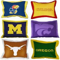 NCAA TEAM LOGO COTTON PILLOW SHAM - College Sports Pillow Cover Bed Accessory