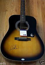 BRAD PAISLEY Signed Epiphone Acoustic Sunburst Guitar Auto PSA/DNA COA Autograph