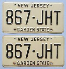 New Jersey 1978 License Plate PAIR # 867-JHT