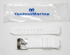 Real TechnoMarine Silicone / Rubber Watch Strap Band 26MM for Cruise 40mm WHITE