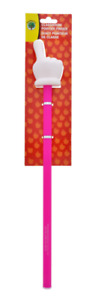 NEW! TEACHING TREE PLASTIC CLASSROOM FINGER POINTER - 15.5in. - PINK AND WHITE