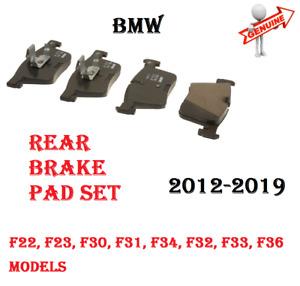 12-19 BMW 228 230 320 328 330 428 430 Rear Brake Pad Set GENUINE 34206873094 NEW
