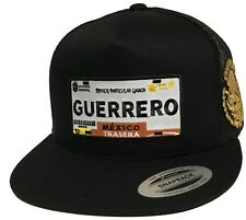 PLACA DE GUERRERO LOGO FEDERAL 2 LOGOS HAT BLACK MESH SNAPBACK ADJUSTABLE