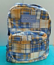 JanSport Super Break 25L Backpacks - blue/yellow and white