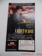 1987 LIGHT OF DAY Michael J Fox Joan Jett Movie Sweepstakes Counter Easel Sign