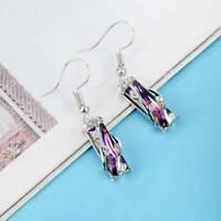 Bling Square Pendant Choker Leaf Pendant Necklace Women Luxury Clavicle Chain JH