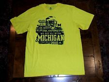 Michigan Wolverines Football 2010 We Are... Yellow XL Schedule T-Shirt EXC