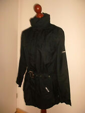 vintage K-WAY Nylon Regenjacke Mantel oldschool black 90`s rain jacket KWAY S