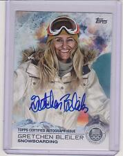 RARE 2014 TOPPS OLYMPIC GRETCHEN BLEILER SILVER AUTOGRAPH CARD /30 ~ SNOWBOARD