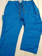Koi Womens Plus Petite Stretch Easy-Fit Mid-Rise Waist Pants 3X-Large Blue