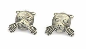 Sea Lion Cufflinks Pewter Made in UK Gift Boxed or Pouched QUANTITY DISCOUNT 317