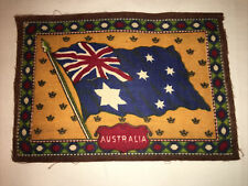 "Large Antique Early 1900's Tobacco Felt/Flannel Flag - Australia 8.25"" x 5.75"""