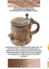 New listing Villeroy Boch Mettlach 216 Brauerstern Brewers Star Lid 1844 beer Stein