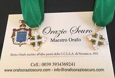 Miniatura Cavaliere Ordine dei Santi Maurizio e Lazzaro in argento 925