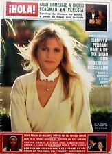 HOLA 1983: FARAH PAHLAVI_JULIO IGLESIAS_ALAIN DELON_SORAYA_FAME_SHIRLEY McLAINE