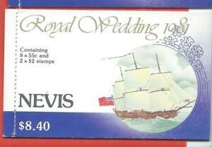 Nevis stamps. 1981 Royal Wedding Booklet MNH (G982)