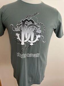 ROBERTO CAVALLI NEW MEN'S Cotton Military Green T-SHIRT SIZE M