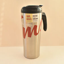 TIM HORTON'S Travel Coffee Mug W/Carry Handle Stainless Steel Tumbler 2016 New
