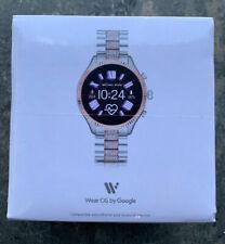 Michael Kors Lexington Rose Gold Silver Crystals Smart Touchscreen Watch MKT5081