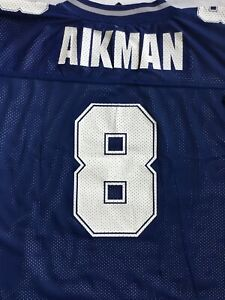 VTG 90's TROY AIKMAN Dallas Cowboys STARTER REVERSIBLE Football Jersey 52/54 NEW