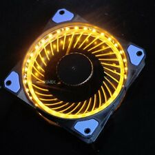 120mm Orange LED Super Quiet Silence  Light PC Computer Case Cooler Cooling fan
