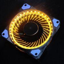 Super Quiet Slience 120mm Orange LED Light PC Computer Case Cooler Cooling fan
