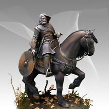 Unpainted 1/16 120MM Figure Model A knight on A Horse With a Shield Garage Kit