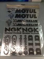Adesivi sponsor tecnici fiancata passaruota carena Motul Michelin NGK Afam D.I.D