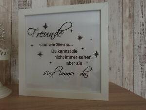 Freunde LED Bild Bilder beleuchtet Geschenk Deko Freundschaft Freundin Sterne