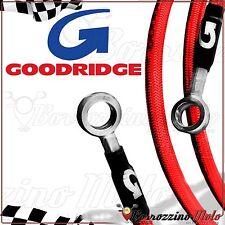 GOODRIDGE FLEXIBLES DE FREIN ROUGE ACIER AVANT ARRIÈRE YAMAHA T-MAX 500 ie 2004