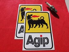 """Pair of  Agip lubricants stickers 4"""""""