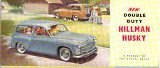 Hillman Husky Mk I 1954-55 Original UK Small Format Sales Brochure Ref No. 303