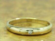 14kt 585 ORO Giallo Anello con 0,02ct. GUARNIZIONE con brillante/Diamante Anello Brillante