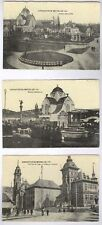 EXPOSITION DE BRUXELLES 1910 (BELGIUM) 3 DIFFERENT UNUSED OLD POSTCARDS  PC6487