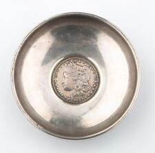 Vintage Baldwin & Miller B&M 1884 Morgan Dollar Sterling Silver Bowl #762 1965