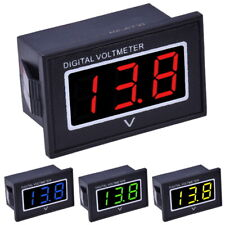 """3-30V DC Voltmètre 0.56"""" LED Afficher Module Étanche Panneau Volt Mètre Testeur"""